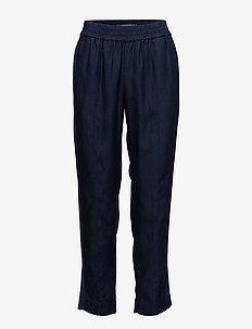 Feminine tapered pants - INDIGO