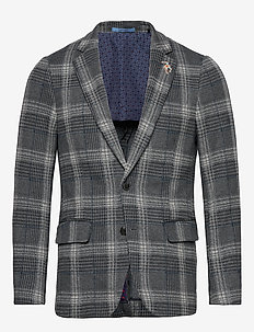 Classic half-lined knitted blazer - COMBO C