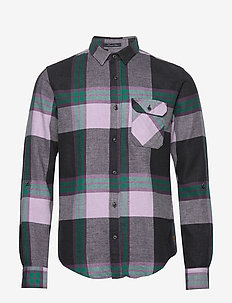 REGULAR FIT Brushed check shirt with tonal inside - COMBO C