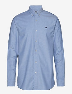 NOS Oxford shirt regular fit button down collar - chemises basiques - blue
