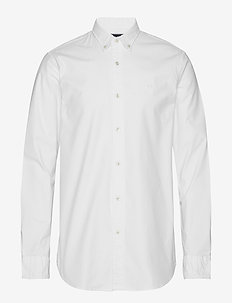 NOS Oxford shirt regular fit button down collar - chemises basiques - white