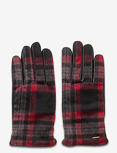 Classic checked wool and leather gloves - COMBO A