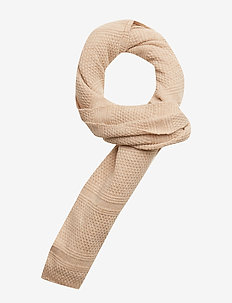 Classic wool scarf in structured knit - scarves - kit melange
