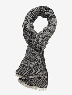 Wool blend scarf in mix & match jacquard patterns - COMBO C