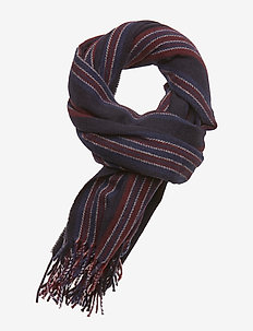 Classic woven gentleman's scarf in wool blend quality - COMBO C