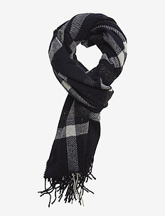 Woven scarf in wool blend quality with neps - COMBO B
