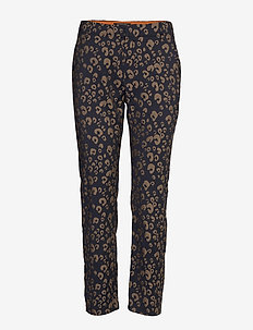 Tailored pants in animal jacqaurd pattern - COMBO A
