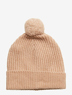 Wool blend knitted beanie - PEARL PINK