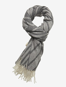 Blanket-inspired scarf in  jacquard wool blend quality - COMBO A
