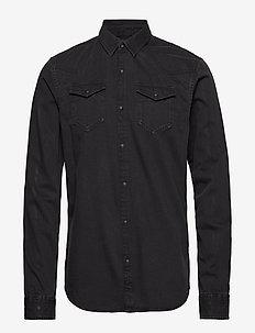 Ams Blauw easy western shirt - BLACK