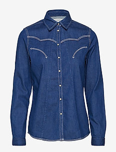 A-shape western shirt - INDIGO