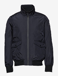 Classic short jacket in nylon quality - bomberjacks - black