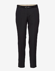 Classic tailored pants, sold with a belt - BLACK