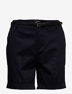 Longer length mercerised chino shorts, sold with a belt - chino shorts - night