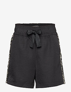 Longer length drapey shorts with contrast side panels - COMBO P