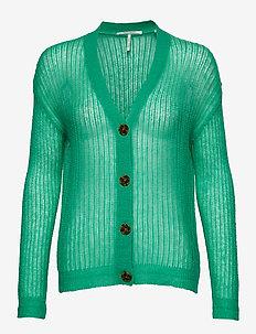 Lightweight colourful cardigan - PALM GREEN