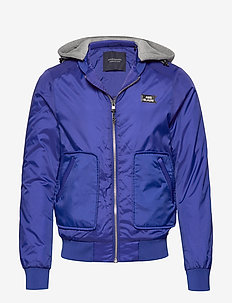 Ams Blauw bomber jacket with blauw quilting - bomberjacks - yinmin blue