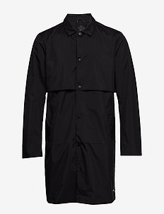 Ams Blauw clean trenchcoat in coated quality - trench coats - black