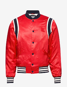 Brutus Ams Blauw colab bomber jacket - bomberjacks - lifeguard red