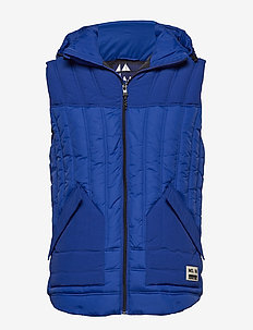 New quilted bodywarmer with detachable hood - vester - yinmin blue