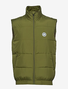 Blauw easy padded body warmer - vesten - military