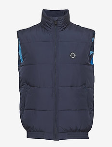 Blauw easy padded body warmer - vester - navy