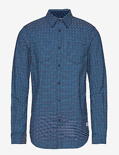 Ams Blauw reversible regular fit shirt - COMBO A