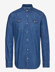 Ams Blauw denim shirt in seasonal washes - DENIM BLUE