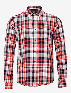Light weight brushed flannel shirt in pop colours - ternede skjorter - combo a