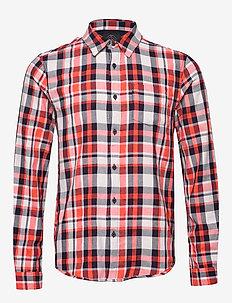 Light weight brushed flannel shirt in pop colours - geruite overhemden - combo a