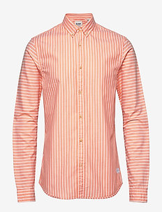 Blauw oxford shirt in solids, stripe and checks - COMBO A