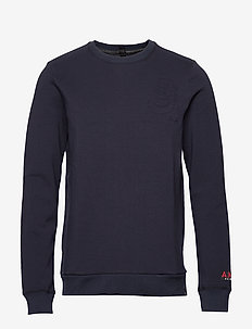 Brutus Ams Blauw colab sweat with detachable bandana - basic sweatshirts - night