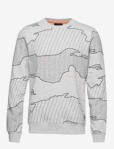 Crewneck sweat with different allover prints - sweatshirts - combo b