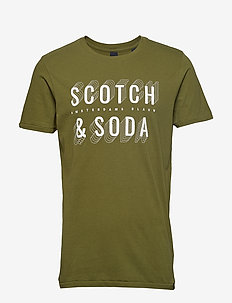 Short sleeve Scotch & Soda logo tee - MILITARY