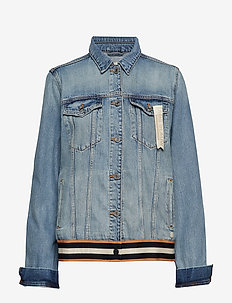 Blue oversized trucker jacket - Dock a Dots - DOCK A DOTS