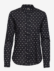 Classic long sleeve shirt with all over print - COMBO F