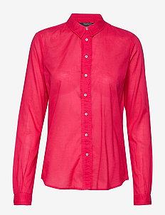 Classic long sleeve shirt with all over print - overhemden met lange mouwen - pink pier