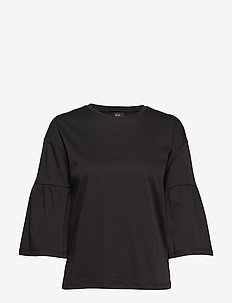Clean tee with special sleeve - BLACK