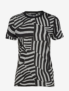 Allover printed short sleeve tee in soft quality - COMBO A
