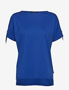 Seasonal tee with adjustable sleeves in clean quality - YINMIN BLUE
