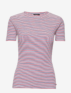 Fitted tee in rib qty - stribede t-shirts - combo a
