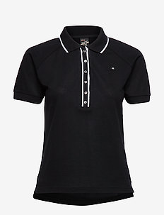Polo with contrast details - poloshirts - black