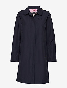 Technical trenchcoat with zip closure - NIGHT