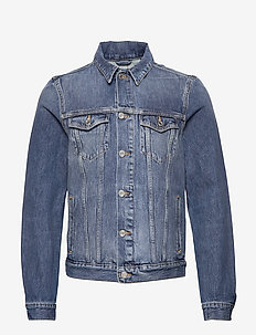 Classic trucker jacket with label detail - spijkerjassen - driftline