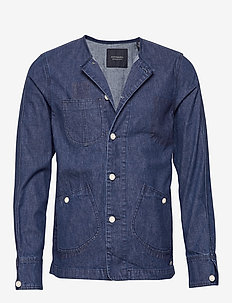 Ams Blauw matchy matchy tailored workwear jacket - spijkerjassen - indigo