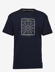 Lot 22 bonded t-shirt in contrast colour - kortermede t-skjorter - midnight