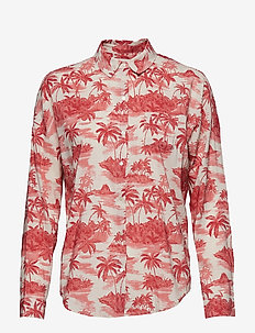 Oversized boxy fit cotton viscose shirt in various prints - COMBO H