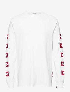 Blauw L/S tee wtih sleeve artwork - long-sleeved t-shirts - white