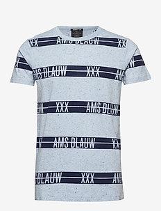 S/S tee with allover prints on melange base - kortermede t-skjorter - combo c
