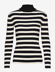 Fitted rib knit with high neck - COMBO A
